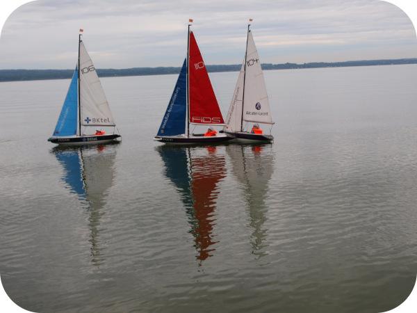 3 Segelboote auf dem Ammersee